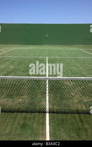 ESP-Spanien-Kanarische Inseln-Fuerteventura-Tennis court - Stockfoto