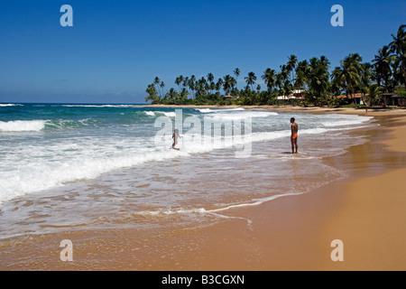 Brasilien, Bahia, Barra Grande. Die leeren Strände machen unberührte Sand und warme Meeren Brasiliens Bahia ein - Stockfoto
