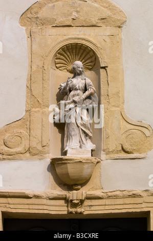 Europa Frankreich Provence Carpentras Fassade Detail Notre Dame De La Einhaltung - Stockfoto