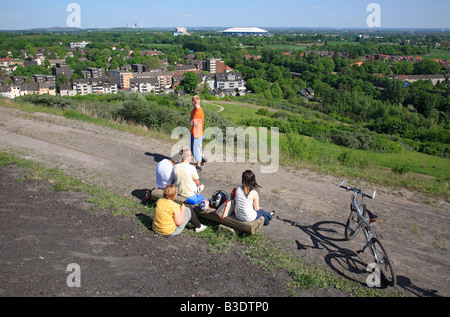D-Gelsenkirchen, Ruhrgebiet, Nordrhein Westfalen, Gelsenkirchen-Beckhausen, Gelsenkirchen-Erle, Blick von der Halde - Stockfoto