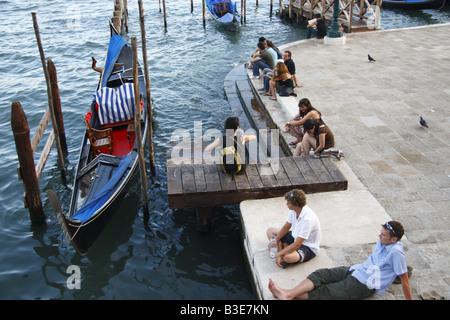 Junge Reisende in Venedig - Stockfoto