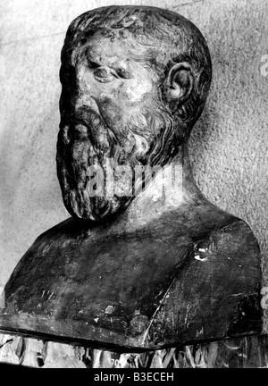 Platon, 427 - 347 v. Chr., griechische Philosoph, Büste, Louvre, Paris, Frankreich, - Stockfoto
