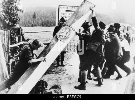 Sudetendeutschen abreißen Grenze Barriere - Stockfoto