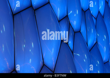 Der Water Cube (National Aquatics Stadium) in der Nacht während der Beijing 2008 Olympischen Sommerspiele in Peking, - Stockfoto