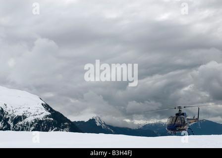 Juneau, Alaska Mendenhall Gletscher, Hubschrauber - Stockfoto