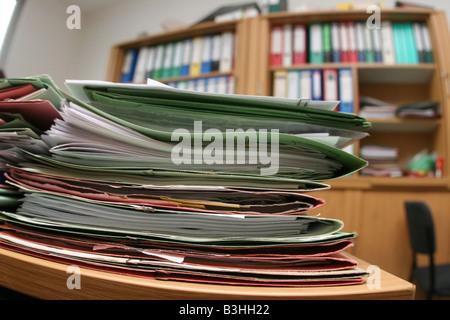 Berg von Dateien - Stockfoto