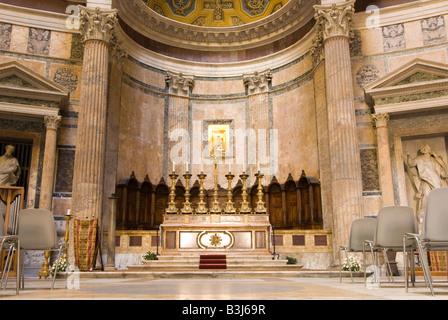 Kapelle im Pantheon Rom Italien - Stockfoto
