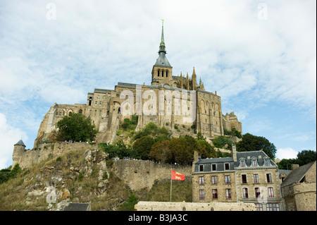 Ortsbild des Kloster Gefängnis Festung Mont St. Michel ist ein Weltkulturerbe und besucht von vielen gehen in die - Stockfoto