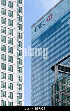 HSBC Hauptverwaltung, Canary Wharf, London, UK - Stockfoto