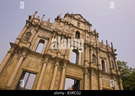 MACAU CHINA Ruins of St. Paul s die Überreste der größten Macao s Kirchen gebaut im Jahre 1602 - Stockfoto