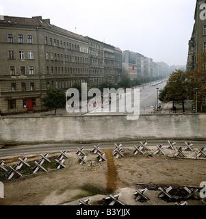 Geografie/Reisen, Deutschland, Berlin, Berliner Mauer, Ost-Berlin, Grenzgebiet, ca. 1970, - Stockfoto
