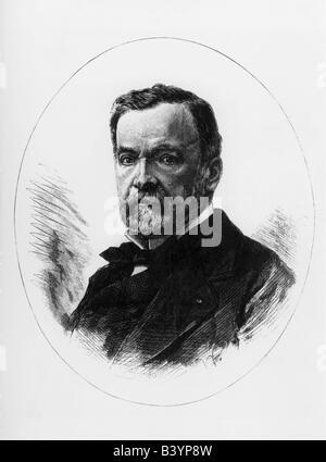 Pasteur, Louis, 27.12.1822 - 28.9.1895, französischer Naturwissenschaftler, Porträt, Gravur, 1884er - Stockfoto