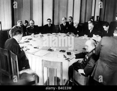 Veranstaltungen, Zweiter Weltkrieg/zweiter Weltkrieg, Konferenzen, Konferenz von Jutta, 4.2.1945 - 11.2.1945, Joseph - Stockfoto