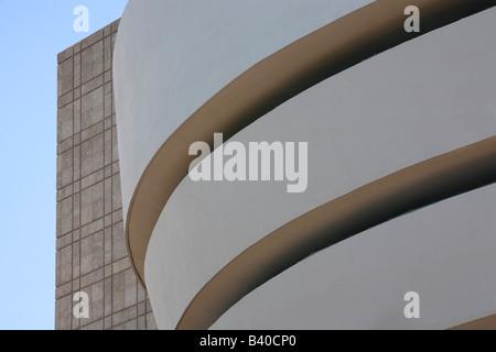 Guggenheim Museum New York Fassade - Stockfoto