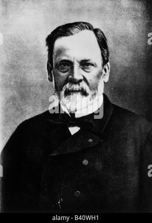 Pasteur, Louis, 27.12.1822 - 28.9.1895, französischer Wissenschaftler, Porträt, Mikrobiologe, Apotheke, Erschafferimpfstoff - Stockfoto