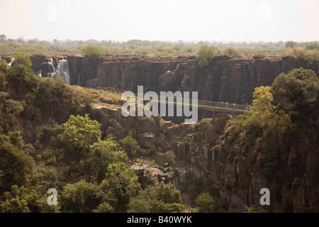Messer Kante Brücke am Victoria Falls Livingstone Sambia Afrika - Stockfoto