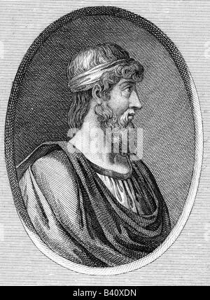 Plato, 427 v. Chr. - 347 v. Chr., griechischer Philosoph, Porträt, Kupferstich, 18. Jahrhundert, Artist's Urheberrecht - Stockfoto