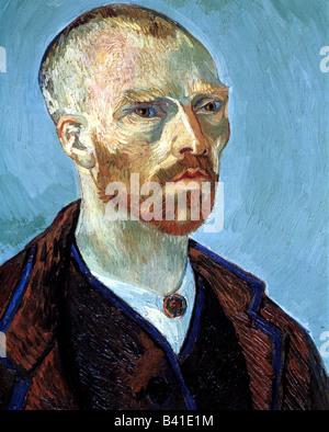 """Gogh, Vincent van, 30.3.1853 - 29.7.1890, Niederländische Künstler (Maler), Malerei, """"self portrait (zu Paul Gauguin - Stockfoto"""