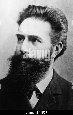 Roentgen, Wilhelm Conrad, 27.3.229 - 10.2.1923, deutscher Physiker, Porträt, ca. 1900, - Stockfoto