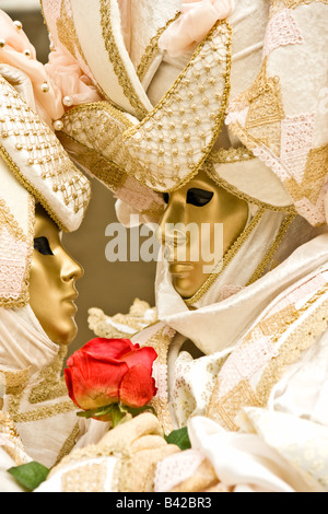 Zwei goldene Maske in Venedig Italien - Stockfoto