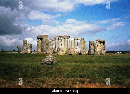 Geographie/Reise, Großbritannien/Großbritannien, England, Stonehenge, County Wiltshire, Kultstätte aus der Bronze, - Stockfoto