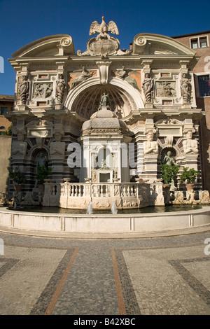 Villa d ' Este Fassade und Brunnen im Tivoli in der Nähe von Rom, Italien, Europa, in Auftrag gegeben und gebaut - Stockfoto