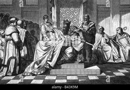 """Otto I """"die Großen"""", 23.11.912 - 7.5.973, Kaiser des Heiligen Römischen Reiches 2.2.962 - 7.5.973, König der Deutschen - Stockfoto"""