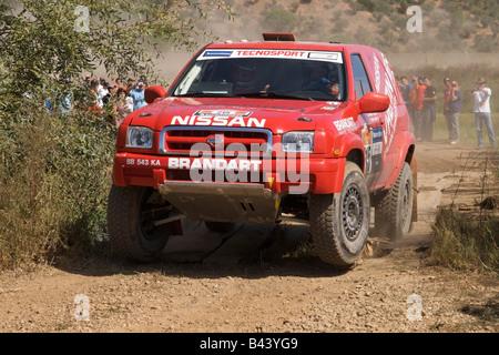 Pax-Rallye-Lisboa Portimão - Dakar Series - Auto 215 - Tecnosport-Team - Maurizio Traglio und Fabien Lurquin - Stockfoto