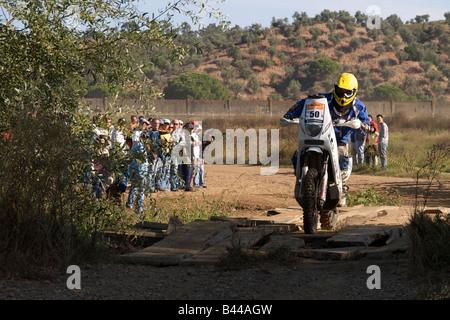 Pax-Rallye - Lisboa-Portimão - Dakar-Serie - Bike 50 - Yamaha - Loek Bodelier - Stockfoto