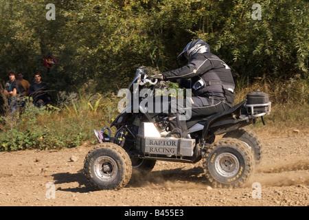Pax-Rallye - Lisboa-Portimão - Dakar-Serie - Quad-Bike 108 - Raptor-Racing-Team - Kurt Dujardyn - Stockfoto