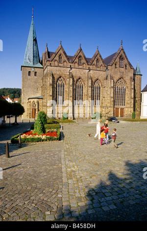 Deutschland, Ostercappeln, Lambertuskirche - Stockfoto