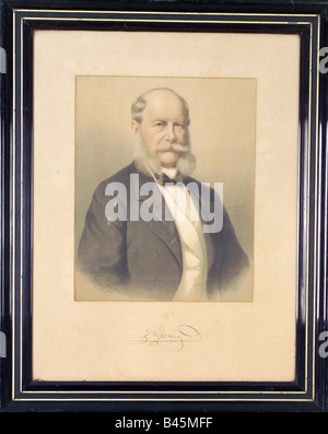 Wilhelm I., 22.3.1797 - 9.3.1888, Deutscher Kaiser 18.1.1871 - 9.3.1888,, Additional-Rights-Spiel-NA - Stockfoto