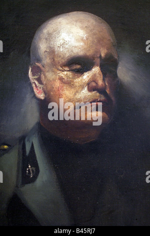 Mussolini, Benito, 29.7.1883 - 28.4.1945, italienischer Politiker (PNF), Premierminister 30.10.1922 - 25.7.1943, - Stockfoto