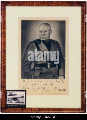 Mussolini, Benito, 29.7.1883 - 28.4.1945, italienischer Politiker (PNF), Ministerpräsident 30.10.1922 - 25.7.1943, - Stockfoto