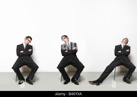 Geschäftsleute schlafen - Stockfoto