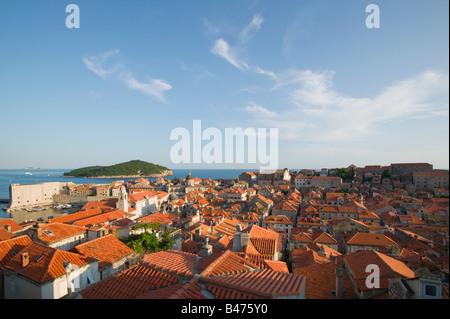 Dubrovnik Altstadt Stadt Dächer - Stockfoto