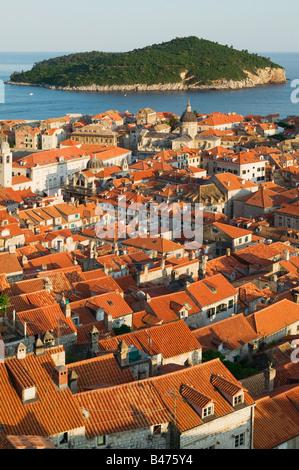 Dubrovnik Altstadt und Insel - Stockfoto