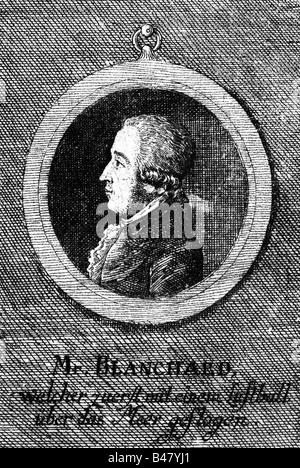 Blanchard, Jean Piere, 4.7.1750 - 7.3.1809, französische Ballonfahrer, Porträt, Seitenansicht, zeitgenössische Cooper - Stockfoto