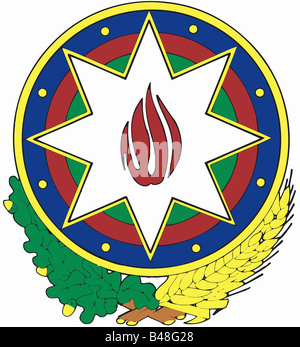 Heraldik, Wappen, Aserbaidschan,, Additional-Rights - Clearance-Info - Not-Available - Stockfoto