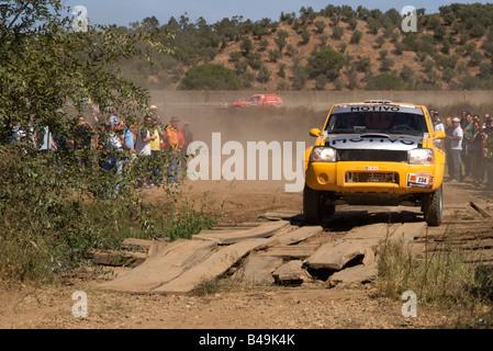 Pax-Rallye-Lisboa Portimão - Dakar Series - Auto 234 - trancigen-Team - Alexandra Gameiro und Isabel Robalo - Stockfoto