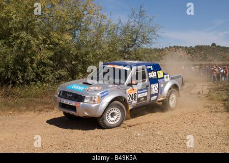 Pax-Rallye-Lisboa Portimão - Dakar Series - Auto 248 - im Sport-Team - Rui Trindade und Joaquim Serrão - Stockfoto