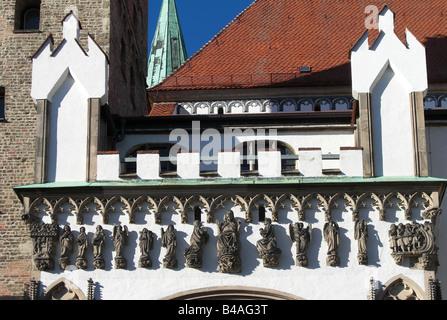 Geographie/Reisen, Deutschland, Bayern, Augsburg, Kirchen, Kathedrale St. Maria, erbaut: Vor 822, Außenansicht, - Stockfoto