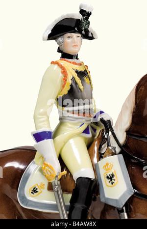 Eine Seydlitz-Cuirassier Officer., ausführliche, farbigen und glasiertem Porzellan Figur eines Preußischen2 des - Stockfoto