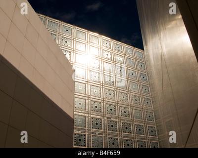 Institut du Monde Arabe in Paris Frankreich, Herbst 2008 - Stockfoto