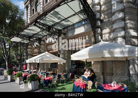 Restaurant in der Nähe des Castello Sforzesco, Largo Cairoli, Foro Buonaparte, Mailand, Lombardei, Italien - Stockfoto