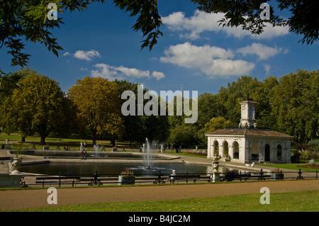Kensington Gardens und den italienischen Garten, London. - Stockfoto