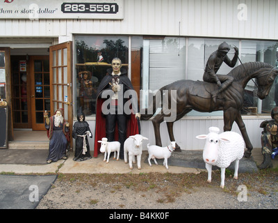 Dracula und Freunde in einem Antiquitätenladen in den Hamptons, New York, USA - Stockfoto