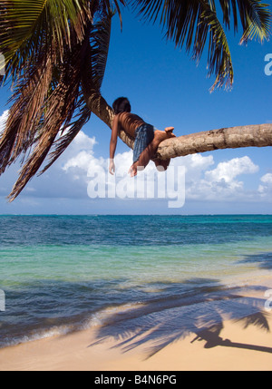 Tropischen Siesta, Little Corn Island, Nicaragua - Stockfoto
