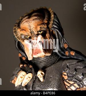Bedrohliche fremde Figur Form der Film Predator - Stockfoto