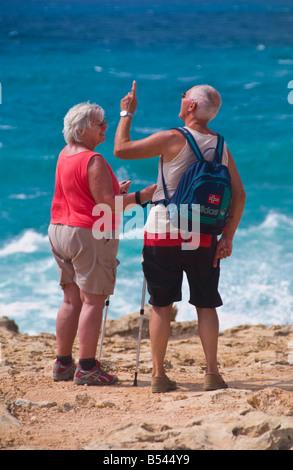 Bei Reife paar am Strand nackt, FKK Strand in Montenegro